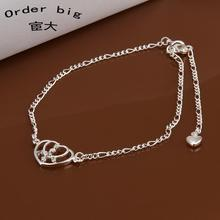 A017 // Promotion Factory Price 925 jewelry silver plated popular anklets Chain,wholesale fashion Foot Chain