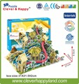 2014 new clever&happy 3d puzzle model Waterpark  diy paper gift for boy paper learning & education learning & education