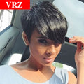 Brazilian Pixie Short Straight Human Hair wigs for Black Women Glueless Full Lace Human Hair Wigs With Baby Hair Wigs
