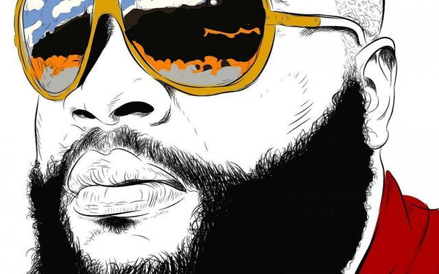 d128a5eb13fe98 Music RICK ROSS gangsta rapper rap hip hop sunglasses glasses reflection  art 4 Sizes Home Decor