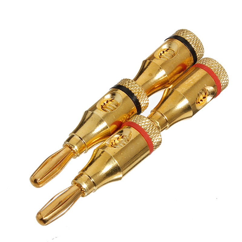 compare prices on rca jack wiring online shopping buy low price hot 4pcs 24k gold plated musical speaker banana connector cable wire 4mm pin b5
