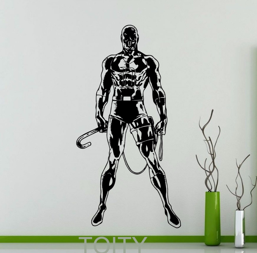 Aliexpress buy daredevil wall sticker dc marvel comics aliexpress buy daredevil wall sticker dc marvel comics superhero vinyl decal home interior decorative nursery room art mural from reliable marvel amipublicfo Gallery