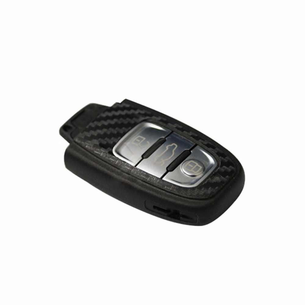 New FAI DA TE In Fibra di Carbonio Chiave Dell'automobile Dell'autoadesivo Della Decorazione Per Audi A4 A6 RS4 A5 A7 A8 S5 RS5 Auto Chiave auto Adesivi Nero Auto-styling C45