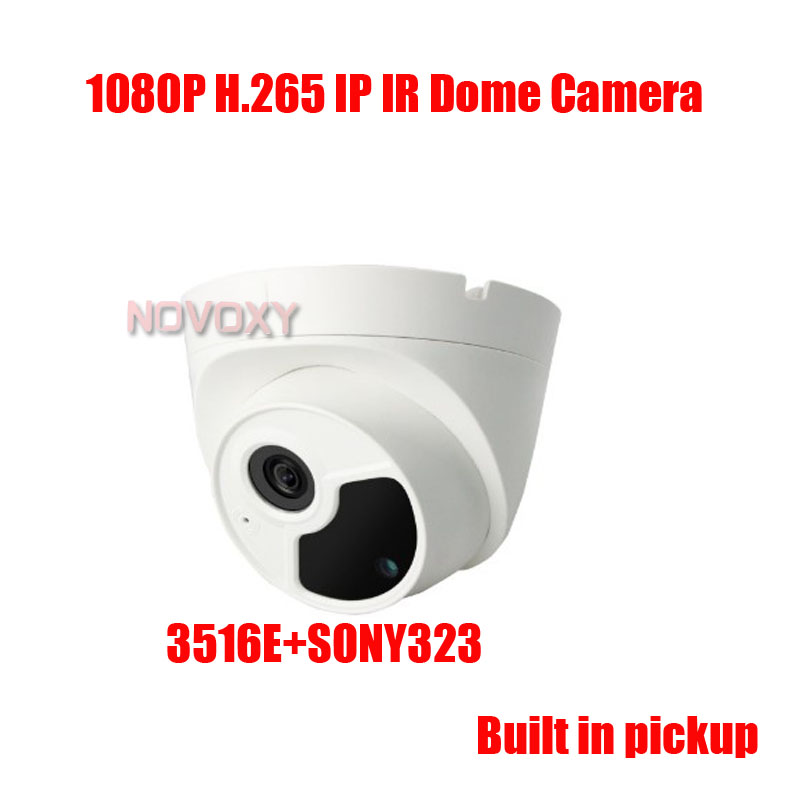 Free Shipping 2MP 3MP built in pickup <font><b>IP</b></font> Dome camera 1080P <font><b>SONY</b></font> <font><b>IMX323</b></font> CMOS HD Infrared Night Vision CCTV <font><b>IP</b></font> Camera <font><b>IP</b></font> CAM image