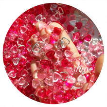 Happy Monkey DIY Slime Supplies Toys Transparent Love Flat Beads Slime Accessories Filler Sprinkles For Fluffy Clear Slime