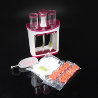 Crush Fruit Puree Squeeze Food Station Baby Food Organization Storage Containers Maker Set NSV775