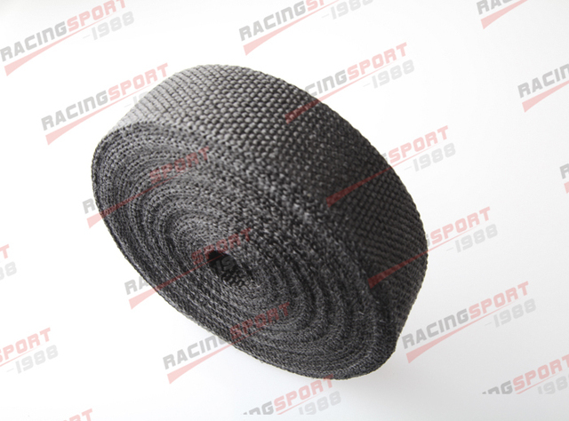 Black 2''x2mm 50FT universal glass fibre exhaust heat wrap