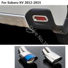 Auto silenziatore esterno end tubo di coda dedicare in acciaio inox di scarico punta del telaio presa 1 pz Per Subaru XV 2012 2013 2014 2015