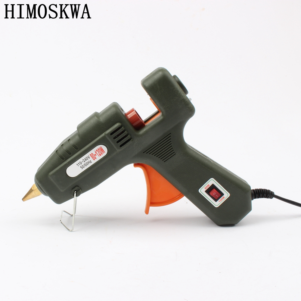 Power Tools Tools 80/120w Glue Gun Hot Melt Glue Stick Household Hand Tool Switch Glass Silicon Strip Hot Melt Electrothermal Glue Stick Gun Refreshment