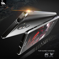 LUPHIE For Huawei Honor 6X Case Cover Original Luxury Ultra Thin Aircraft Aluminum Metal Frame For