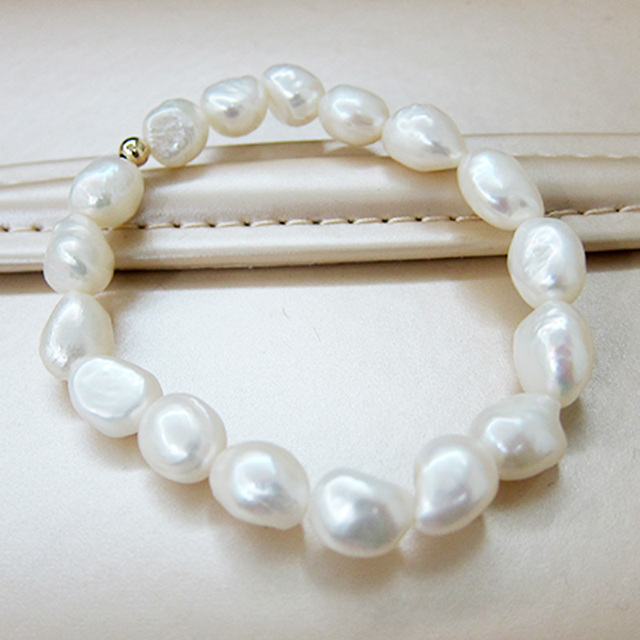 baroque pearl bracelet bangle classic white freshwater pearl accessories exquisite pearl bracelet chain for women fine jewelry