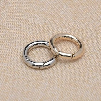 3/4 inch Silver Round Spring Clasp, 20mm inner Diameter Nickel Spring O Ring Metal Rings 50pcs/lot