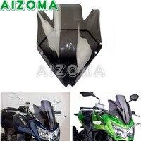 Touring Smoke Motorcycle Windshield Black High Impact Acrylic Wind Deflector Windscreen For Kawasaki Z750 Z750R 2007 2012