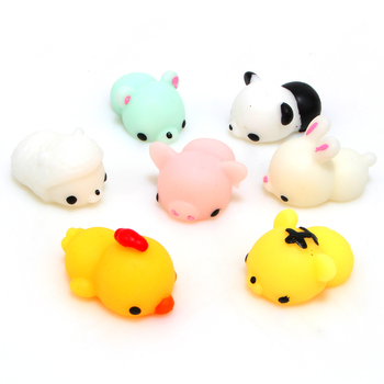 1 PCS Kawaii Animal Slow Rising Squishy Panda/tiger/pig/sheep/duck/rabbit/chick Cute Phone Straps Soft Bread Cake Kids Toy artificial nails