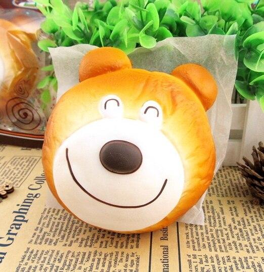 imágenes para Goody Murphy Randon 1 unid original Jumbo bollo cabeza de oso muñeca resto de la mano de LA PU Blando NUEVA LLEGADA Del Envío Libre