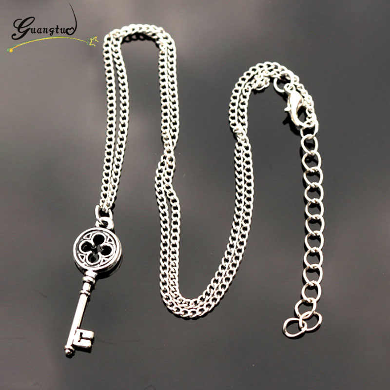 1Pcs Vintage Key Pendant Necklaces For Women Wedding Jewelry Girl Choker Gift Fashion Jewelry Neck Decorative Tool