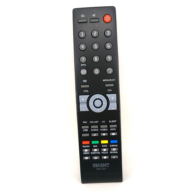 New OEM Remote control AOC-931 For AOC TV UNIVERSAL Remote control For AOC MOST Models Fernbedienung монитор aoc 21 5 e2270swdn e2270swdn