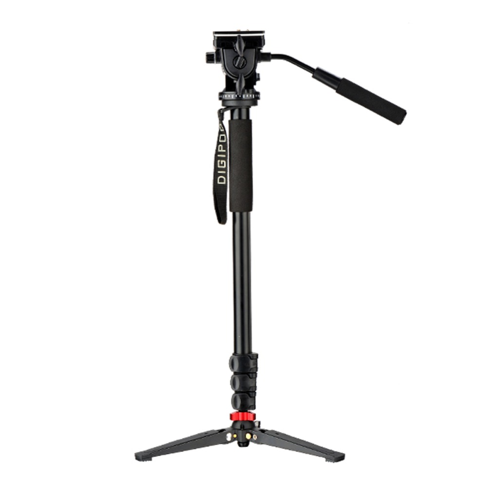 DIGIPOD Aluminum Fluid Video Head 69inch Monopod with Folding Three Feet Support Stand MP 274VH