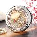 Gravar palavras, bling strass sexy fox, Mini Beleza espelho de maquiagem bolso espelho compacto espelho de maquiagem, festa de casamento bridesma presente presente