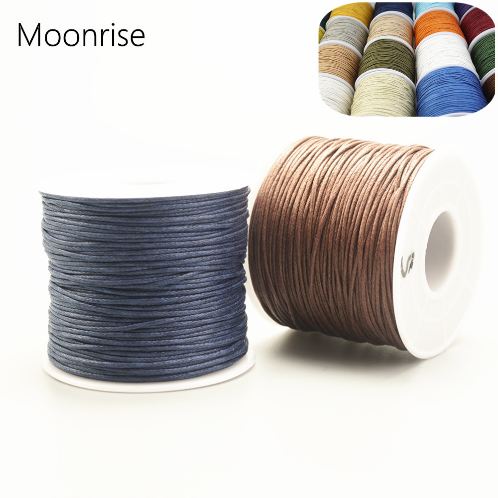 75m/rolls 1mm Waxed Cord Multicolor Wax Cotton Cord For DIY Jewelry Bracelet Necklace Bead Accessories HK042