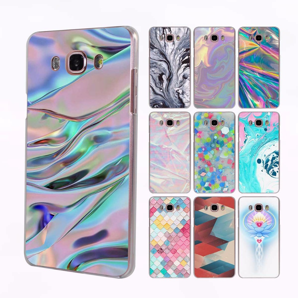 Color Pink And Aqua Marble Transparent Clear Hard Case