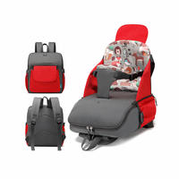 2 in 1 Portable Folding Baby Dining Chair Seat Bag and Mommy Bag, Toddler Booster Seat with Large Capacity
