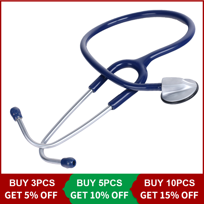 cofoe-medical-single-head-stethoscope-zinc-stethoscope-emt-headed-single-tube-clinical-fetal-heart-auscultation-device-blue