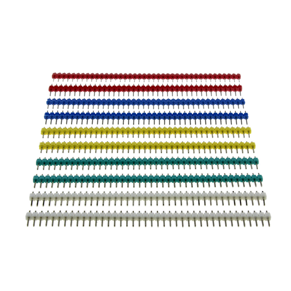10pcs 40 Pin 1x40 Single Row Male 2.54 Breakable Pin Header Connector Strip For Arduino Diy Kit