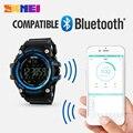 Skmei inteligentes bluetooth reloj deportivo de fitness calorie tracker podómetro impermeable relojes de los hombres led digital reloj de pulsera inteligente