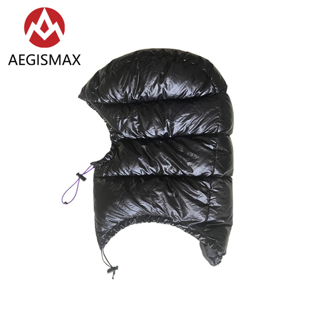 AEGISMAX Goose Down Hood Hat for Envelope Sleeping Bag