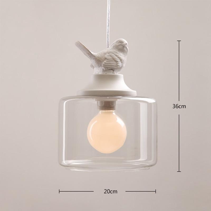 Luces colgantes nórdicas elegantes del pájaro de la resina para la - Iluminación interior - foto 3