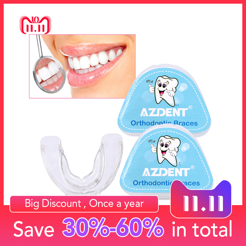 Orthodontic Braces Appliance Dental Braces Silicone Alignment Trainer Teeth Retainer Bruxism Mouth Duard Teeth Straightener infant trainer children braces invisible dental braces kids teeth trainer 2 5 years boys