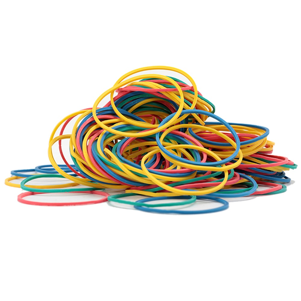 Купить с кэшбэком Deli 1 Pack 50g Colored Round Rubber Band Office circle rubber band  inancial warehouse School Office strapping Supplies 3219