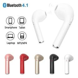 i7s Mini Wireless Earphones Single Ear Bluetooth Earbuds Sport Hands Free Earphone Bass Headset with Mic for Mobile Phone