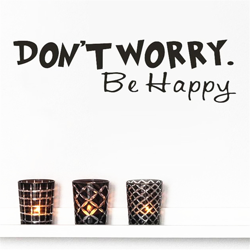 Wall Stickers Dont Worry Be Happy Art Wall Stickers Vinyl Removable Decals Mural Home Room Decor Quotes Wall Decals DEC 12TH