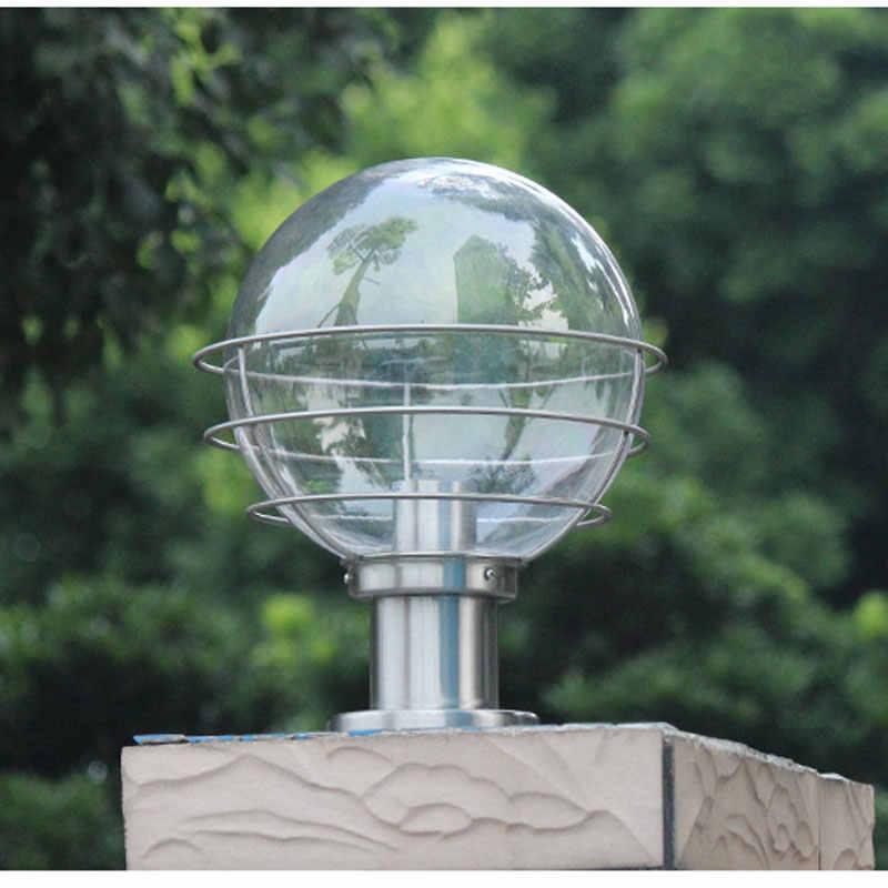 Открытый шар форма светильник на Колону белый креативный сад лампа забор жилой коридор двора E27 огни
