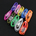 100pcs New 3ft/1M Durable Braided Micro USB Cable Coiled Charger Data Sync Cable Cord For Samsung Galaxy 10 Colors Available