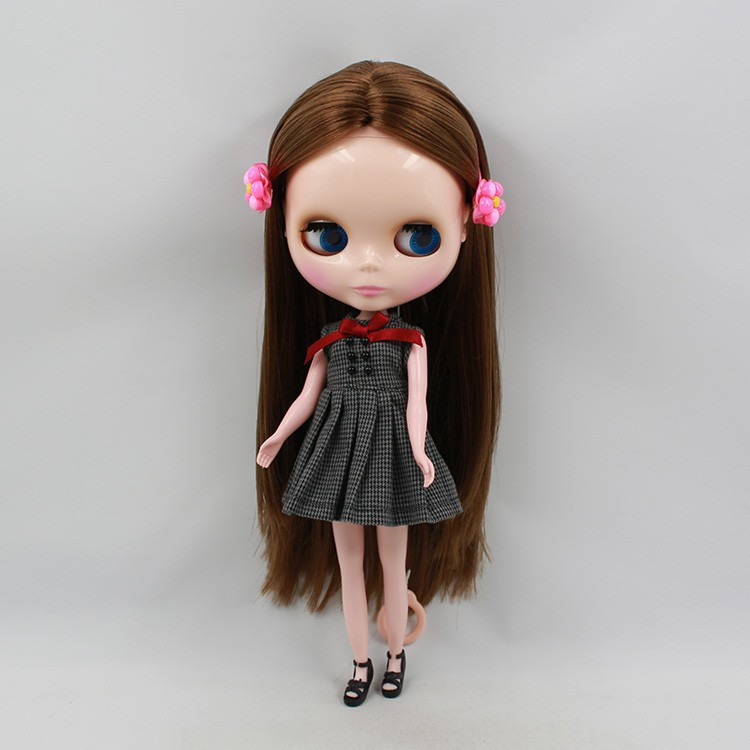 free shipping factory blyth doll 230BL0623 BROWN greasy HAIR normal body gift toy