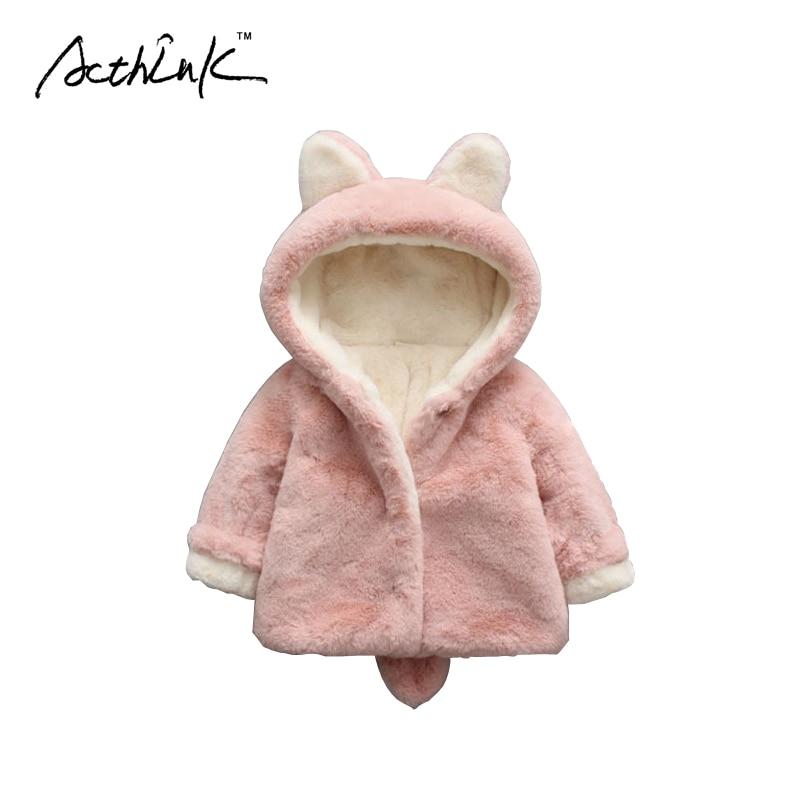 d77cd1890da ActhInK New Baby Girls Winter Warm Soft Cotton Overcoat Baby Boys Thick Hooded  Jacket Brand Newborn Kids  Cute Style Coat