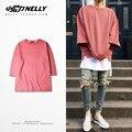 Vermelho net sete cuff cabeça Kanye Kanye T-shirt manga da camisa de coco e high street