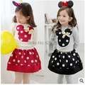 Free Shipping 2016 New Baby Girls Sets Girls Clothing Set T shirts + Skirt Children 2pcs Suit