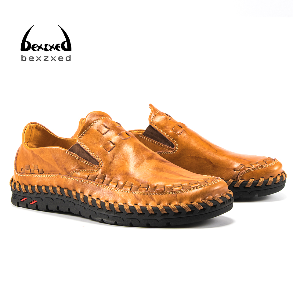 Bexzxed Men Shoes 2017 Men Loafers Summer Men's Flats Casual Leather  Bean Shoes Sapatos Masculino Comfort Driving Shoes 2017 new flats men shoes zip round toe leather men loafers shoes fashion brand outdoor shoes casual sapatos masculino