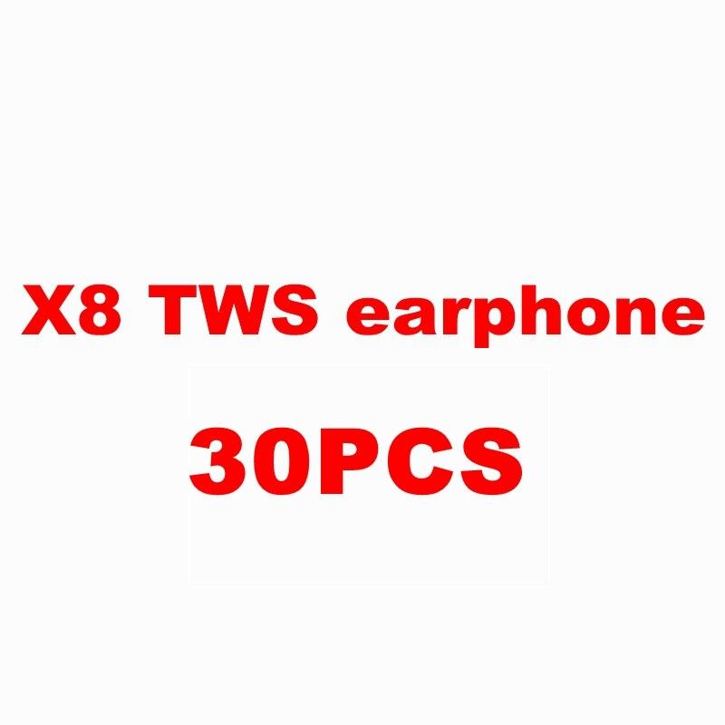 30 pc X8 auricular estéreo TWS 15 piezas negro 10 piezas gris 5 piezas rojo