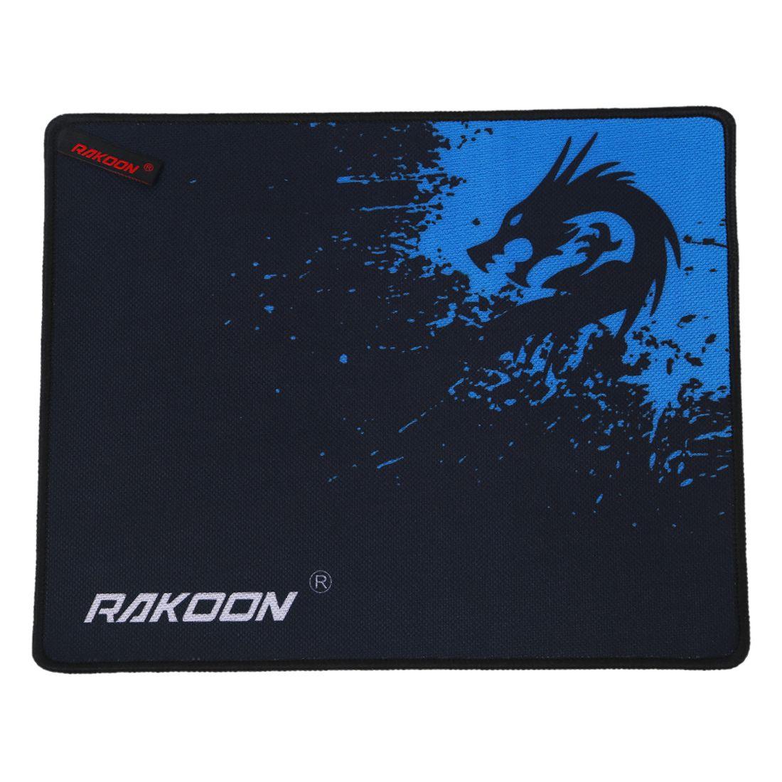 RAKOON Xinlong Large Gaming Locking Edge Mouse Mat For Internet Bar Mouse Pad(Control Blue 25*30CM)