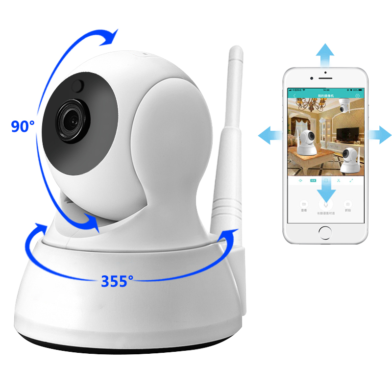 IP Camera Home Security Two Way Audio HD 720P Wireless Mini Camera 1MP Night Vision CCTV WiFi Camera Baby Monitor(China)