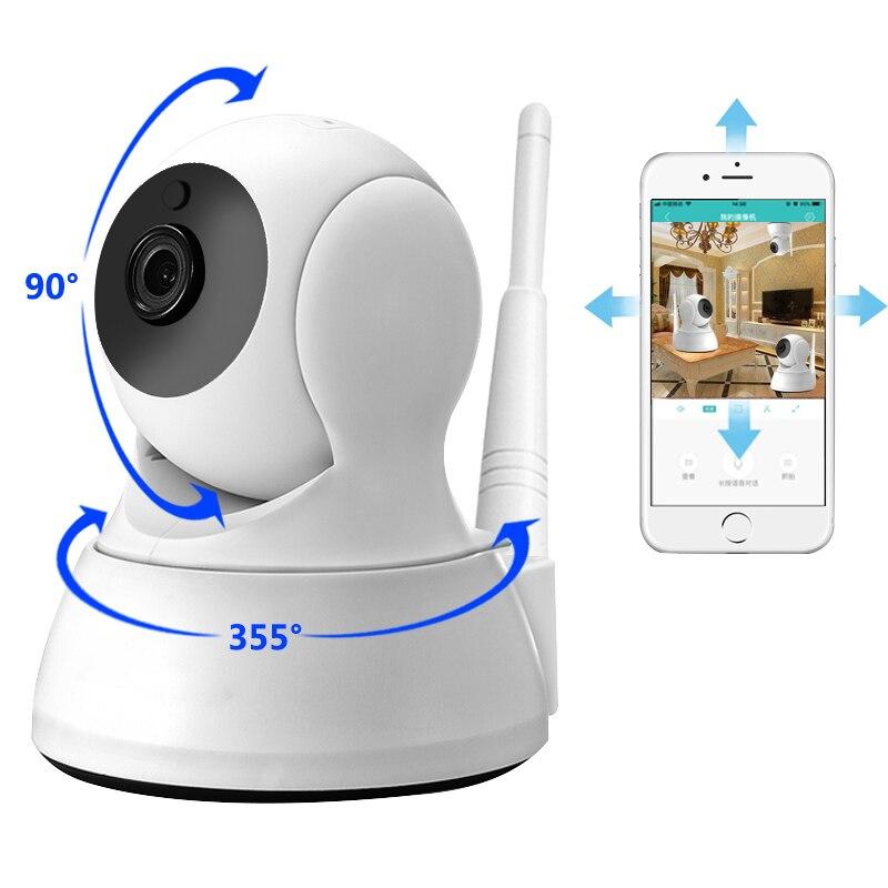 Cámara IP de seguridad de dos vías de Audio HD 720 p Mini cámara inalámbrica 1MP visión nocturna CCTV del bebé de la cámara del WiFi monitor