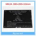 Больше! 2015 MK2A 300*200*3.0 мм MK2B Heatbed Для 3d-принтер RepRap РАМПЫ 1.4 ПЕЧАТНОЙ ПЛАТЫ