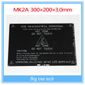 Maior! 2015 RAMPAS RepRap MK2A 300*200*3.0mm 1.4 PCB MK2B Heatbed Para 3D de Impressora