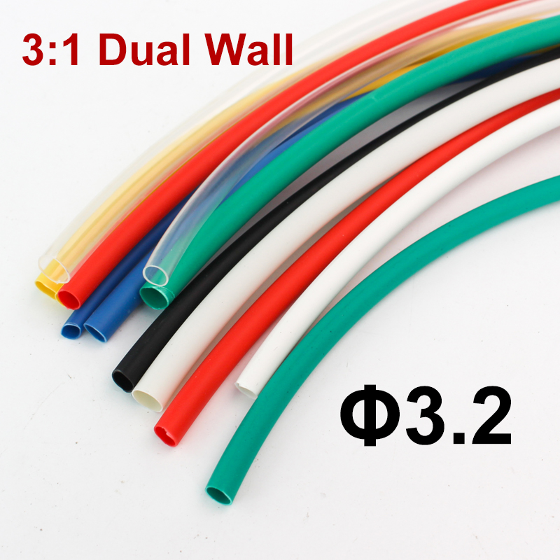 19.1mm Adhesive Dual-Wall 3:1 Heat Shrink Tube Sleeve 50cm Metre