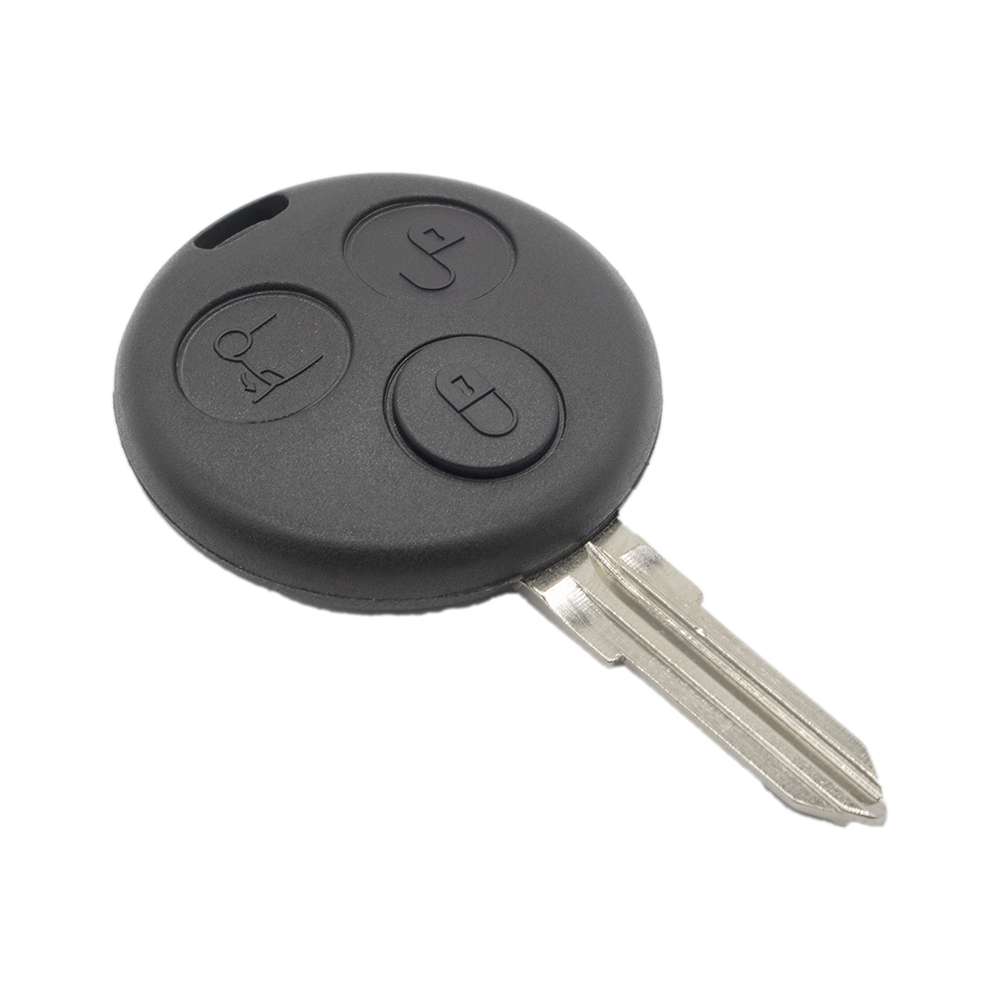 WhatsKey 3 Buttons Replacement Car Remote <font><b>Key</b></font> Shell For Mercedes Benz <font><b>Smart</b></font> Fortwo <font><b>450</b></font> Forfour Roadster Case Uncut Blank Blade image